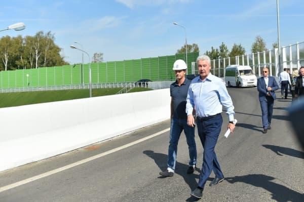 Собянин открыл второй участок трассы Солнцево – Бутово – Варшавское шоссе
