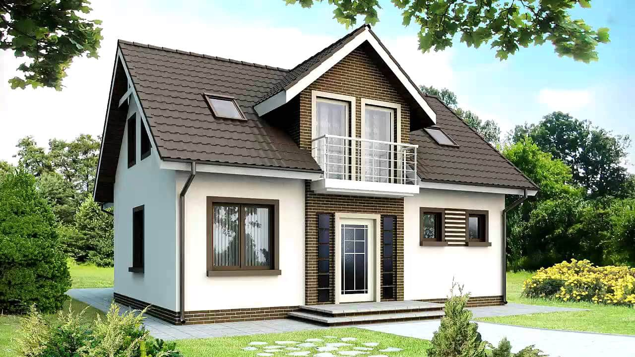 Проекты одноэтажных домов с мансардой: Фото