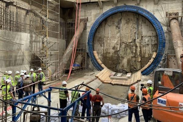 Мэр отчитался о построенном очередном тоннеле метро