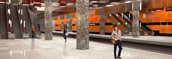 Станцию метро «Стахановская» оформят в стиле конструктивизм