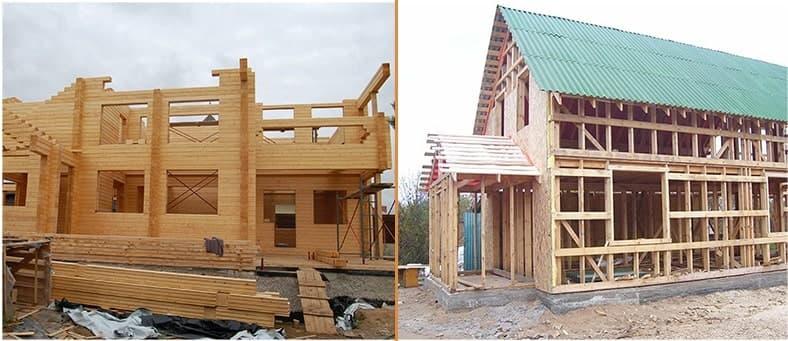 Что выбрать для строительства: каркас или брус?