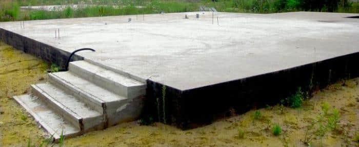 Плитный фундамент: Технология