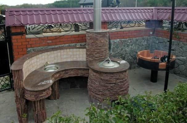 Постройка печи тандыр на даче