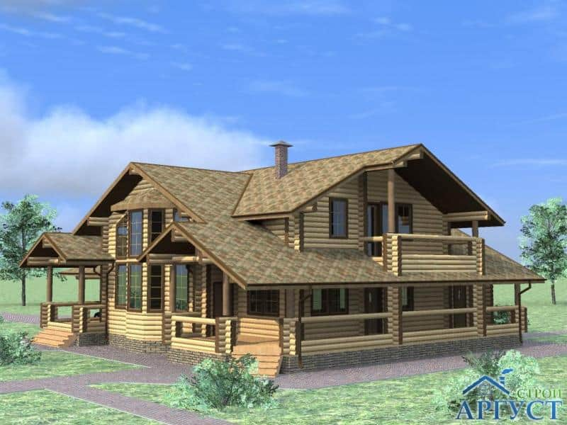 Проект дома из калиброванного бревна – Фото
