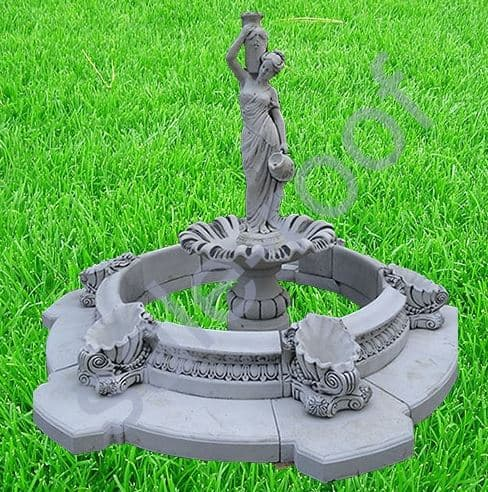 Садовые фонтаны из бетона