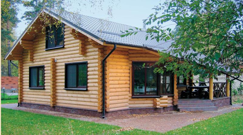 Строительство загородных домов и коттеджей из оцилиндрованного бревна