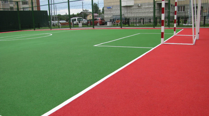 Резиновое покрытие для детских и спортивных площадок.