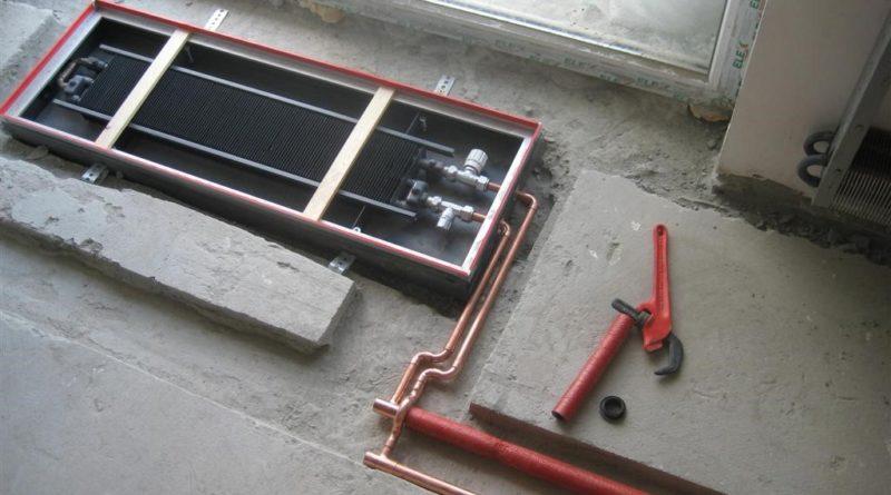 Подключение внутрипольного конвектора: основные этапы монтажа