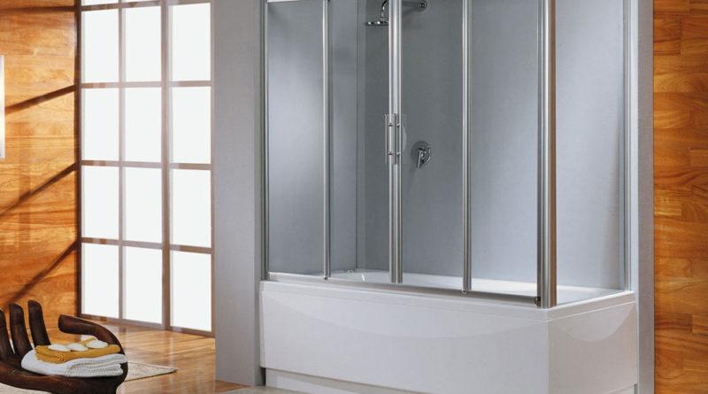 Преимущества раздвижных шторок в ванную