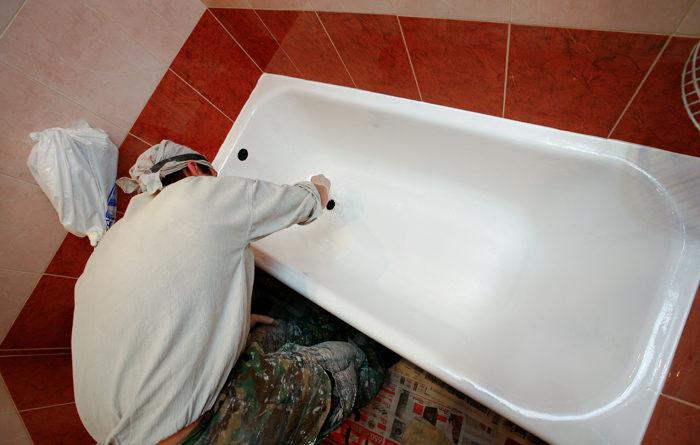 Реставрация ванн жидким акрилом в Киеве