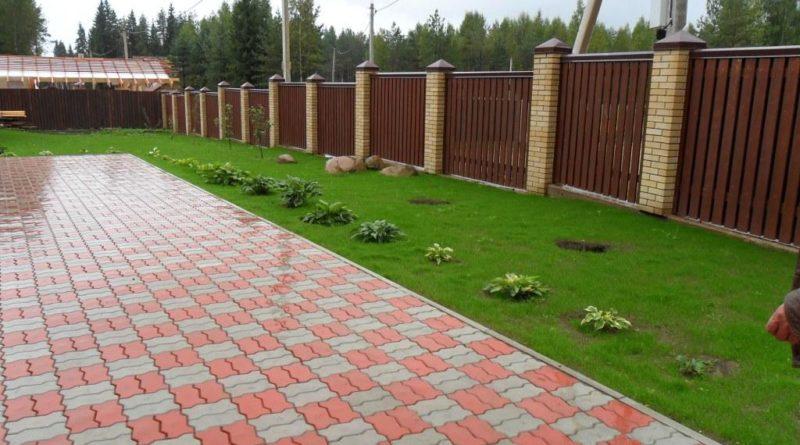 Выбор тротуарной плитки для частного двора