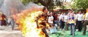 40 жителей Китая сожгли себя в знак протеста против сноса жилых домов