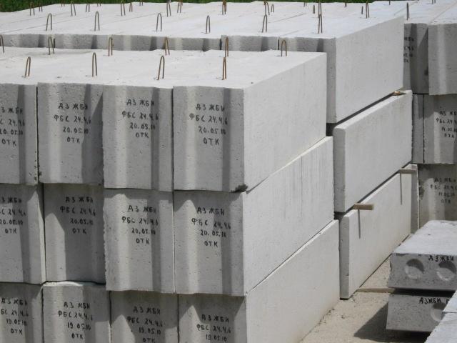 Используемые бетонные блоки для фундамента в строительстве