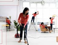 Как быстро решить проблемы уборки помещения после ремонта