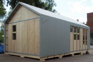 Модульный временный дом, который можно собрать без каких-либо инструментов
