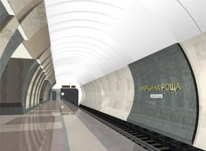 Работы во втором вестибюле новой станции метро «Марьина Роща» близки к завершению