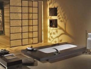 Роскошная отделка современной ванной комнаты