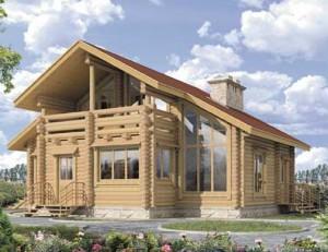 пример деревянного коттеджа