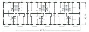 Планировка квартир в домах серии 1-443