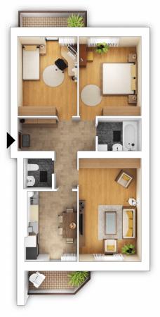 Как перепланировать 2 х комнатную хрущевку