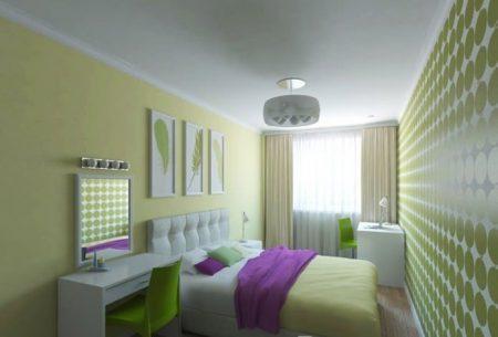 Дизайн спальни в зеленых тонах