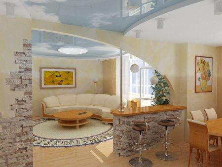 Дизайн кухни-гостиной в квартире
