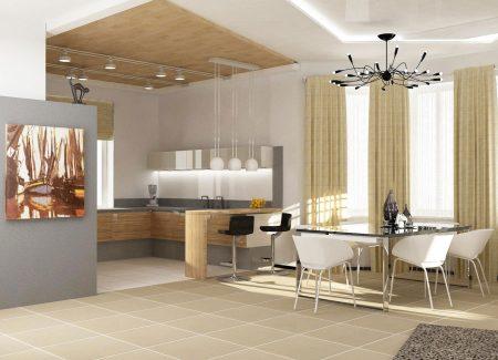 Дизайн квартиры-студии в светлых тонах