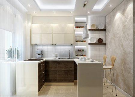 Оформление маленькой кухни в светлых тонах