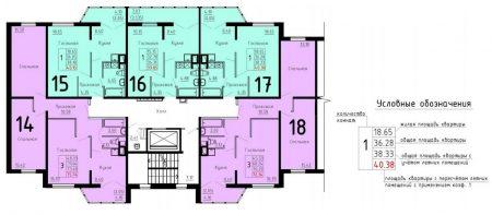 План типового этажа в домах ДОММОС
