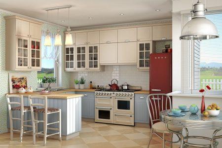 Дизайн просторной кухни-столовой