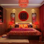 Китайский интерьер спальни