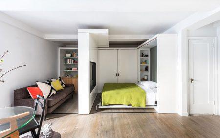 Выдвижная кровать в зоне отдыха
