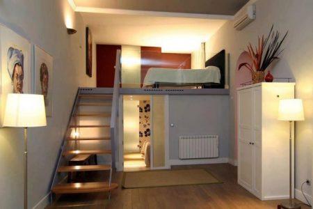 Индивидуальные спальные места в квартире-студии