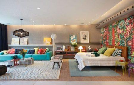 Цветовое зонирование в квартире-студии
