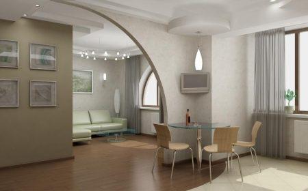 Арочная конструкция в квартире-студии