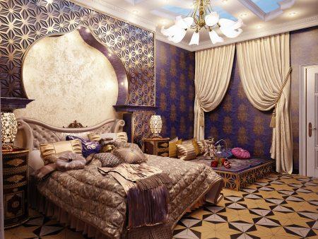 Спальня в восточном стиле арабское направление