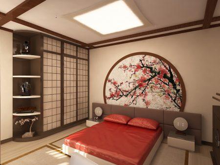 Спальня в восточном стиле японское направление