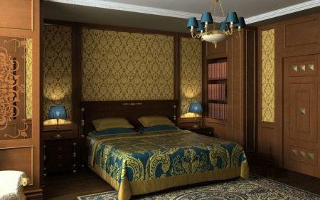 Интерьер спальни в восточном стиле