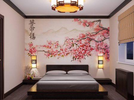 Китайское направление в интерьере спальни