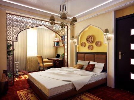 Декоративные панели в восточной спальне
