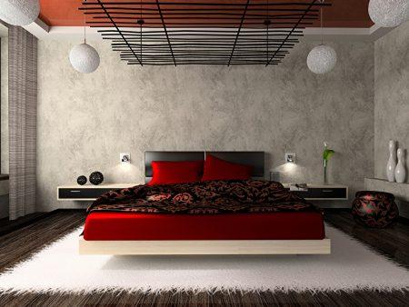 Спальня в стиле хай-тек с японскими мотивами