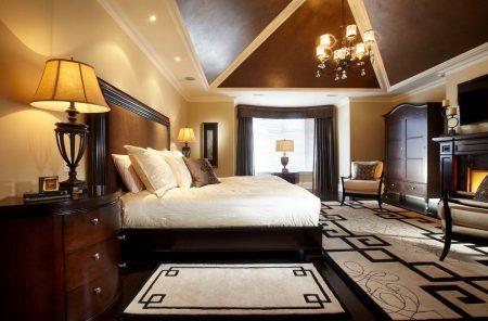 Спальня в классическом стиле для мужчины