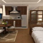 Дизайн квартиры-студии в коричневых тонах