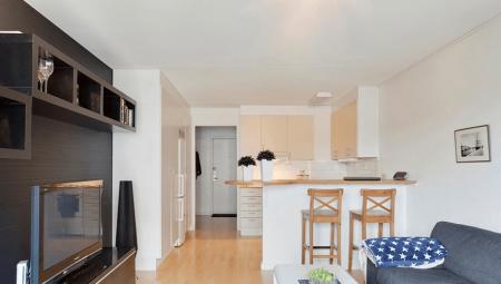 Дизайн длинной квартиры-студии