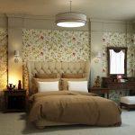 Вариант оформления спальни в английском стиле