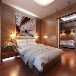 Спальня в стиле корабельной каюты