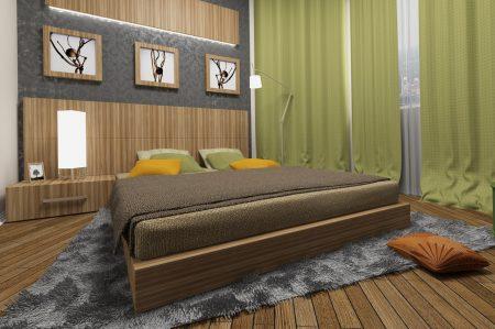 Спокойные цвета в интерьере спальни