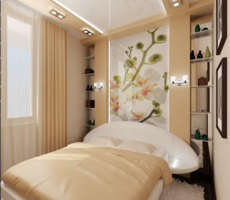 Глянцевые материалы в интерьере спальни