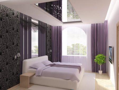 Зеркало на потолке спальни