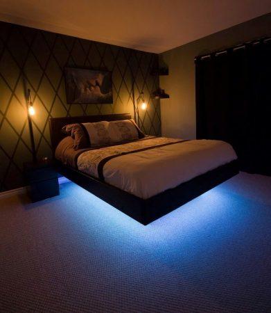 Подсветка кровати снизу